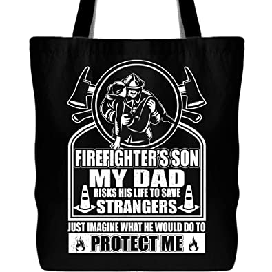 Amazon.com  Firefighter s Son Tote Bag with Long Shoulder Strap 8048c5eca61f4