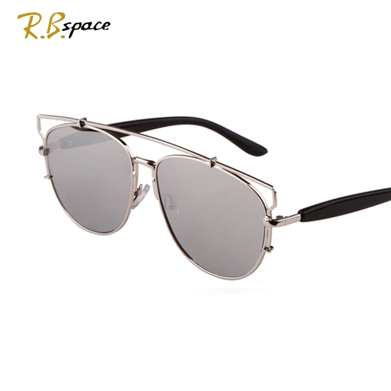 Amazon.com: Gafas de sol unisex de gran caja ovalada con ...