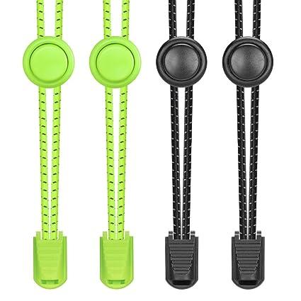 Elastische Schnürsenkel mit Schnellverschluss Schnellschnürsystem Sport Schuhe D