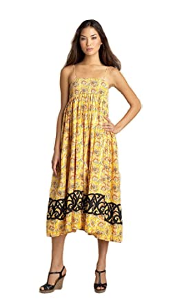 0f9600b9d4e Free People Yellow Floral Maxi Dress Sundress Summer Size S P at ...