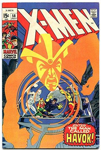 X-MEN #58-First HAVOK w/ Costume-NEAL ADAMS-Marvel F/VF