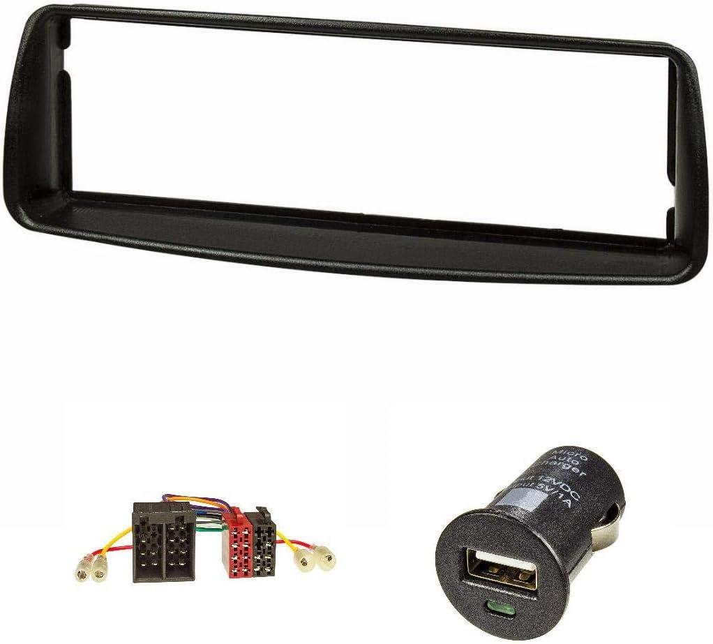 Bisel de radio (Juego + cargador USB) para Peugeot 206, color ...