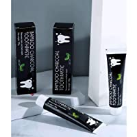 Bamboo Charcoal Toothpaste/Mint Flavour,Activated Charcoal Toothpaste Eliminate Bad Breath and Prevent Tooth Decay,Natural  Whitening Teeth(Tooth Paste 105g) (2BLACK)