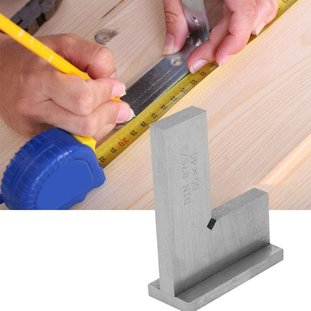 Machinist Steel Square High Accuracy Carbon Steel Flat 90 Degree Right Angle Ruler Square Layout Tool Engineer Square Tool with Seats 75x50