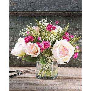 Peony & Ranunculus Silk Flower Arrangement 2