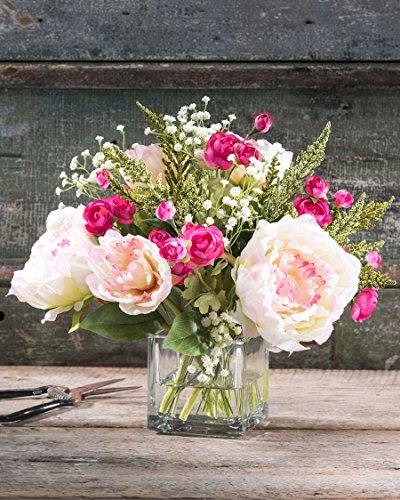 Peony-Ranunculus-Silk-Flower-Arrangement