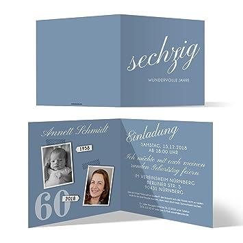 Einladungskarten Zum 60 Geburtstag Einladungskarten
