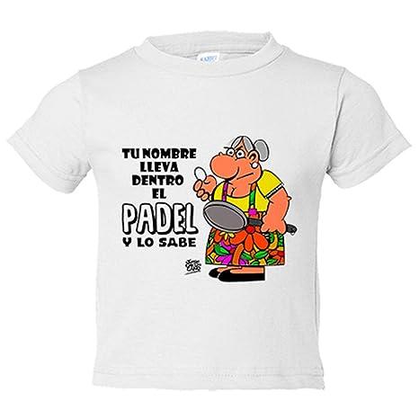 Camiseta niño llevas dentro el Padel y lo sabes personalizable con ...