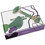 AstiVita Green Jade Roller Gift Set with GuaSha (Green)