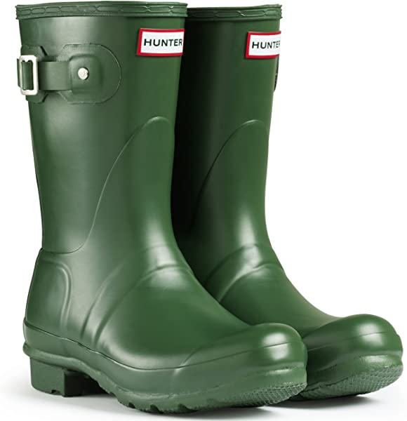 d5fa9618c Amazon.com: Hunter Women's Boots Original Short Snow Rain Boots Water Boots  Unisex - Green - 8: Camera & Photo