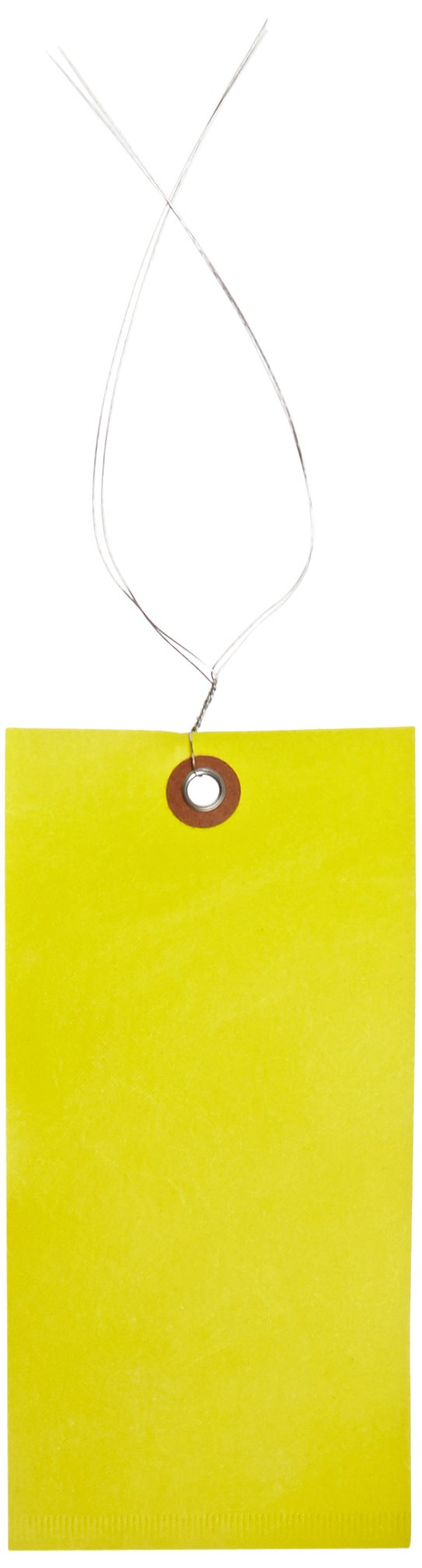 Quality Park G14083B Tyvek Spunbonded Olefin Pre-Wired Shipping Tag, 6-1/4'' Length x 3-1/8'' Width, Yellow (Case of 100) by Tyvek