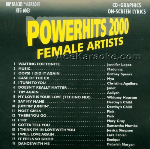 HIP TRACKS #3 Karaoke CDG FEMALE POP 2000 POWERHITS 18 Songs - Houston Macy