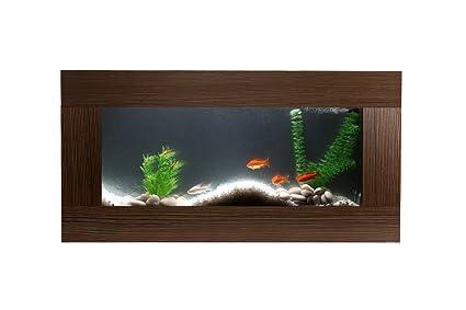 Miliboo - Acuario de pared de diseño en madera KEY WEST: Amazon.es ...