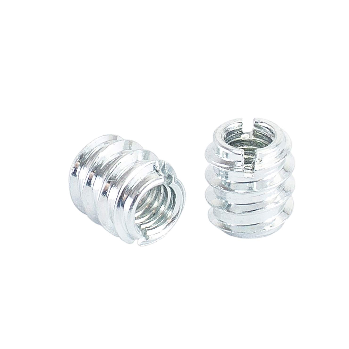 50 Pack POWERTEC QTI1003 5//16-18 Threaded Insert for Wood Superior Fastening Zinc Plated Screw-in Nut for Woodworking for Hard and Soft Wood and More a Woodworking Shop Essential
