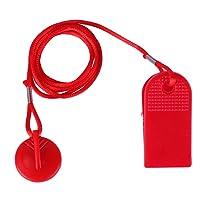 Clé de sécurité pour tapis de course Egymcom, verrou de sécurité rond magnétique de 2,8cm et 3,2cm de diamètre, accessoire de remplacement pour machines de remise en forme, couleur rouge