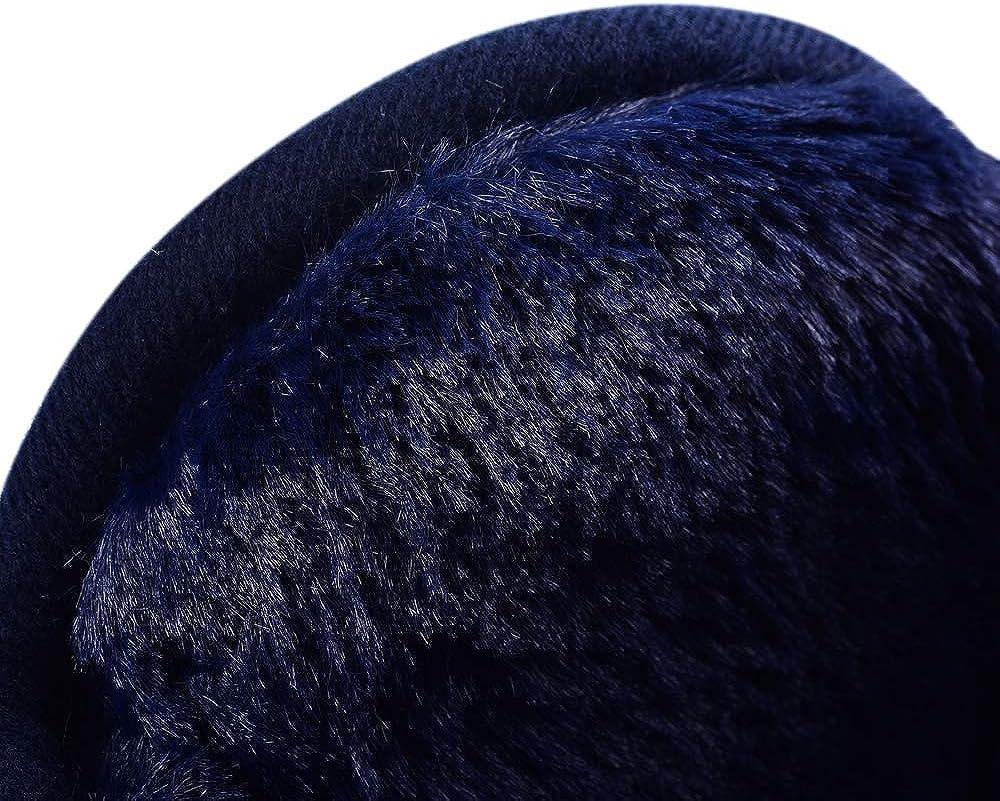 per uomo e donna Secret Felicity Paraorecchie Pelosi Invernali Pieghevoli Unisex Grande scalda orecchie in maglia con pelliccia EW1