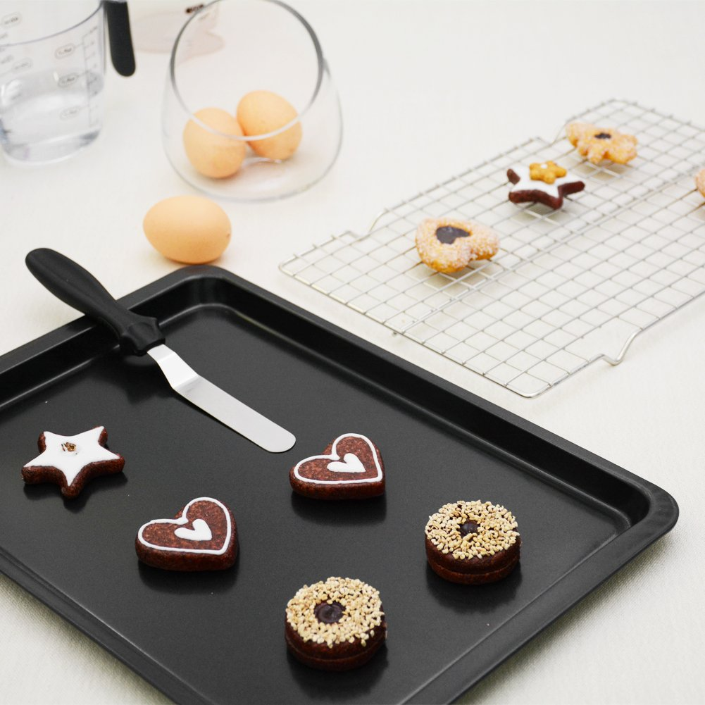 Kootek 7-Piece NonStick Bakeware Set, Muffin Pan, Loaf Pan, Cake Pan, Round Pan, Baking Sheet Pan, Cooling Racks Professional Baking Supplies Rectangle Cookie Pans by Kootek (Image #3)