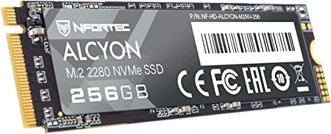 Nfortec Alcyon M.2 SSD 256GB NVMe,Disco Duro Estado sólido Interno con Interfaz PCI Express Gen3