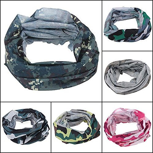 Sports & Outdoor - Camouflage Scarf Cycling Bike Neck Mask Hat Cap Headwear - - Woodlands The Square Market