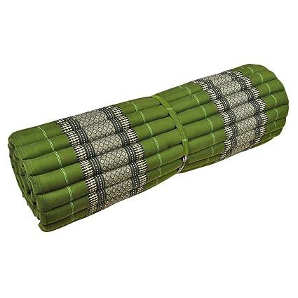 Tailandés estera estera de yoga rollo de alfombra de patrón ...