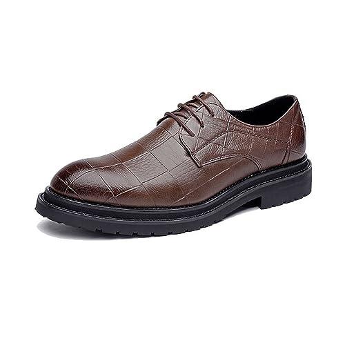 Zapatos de Cuero para Hombres Negocios PU Clásico Lace Up Mocasines Cuadrados Textura Strong Outsole Oxfords!: Amazon.es: Zapatos y complementos
