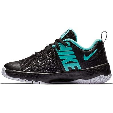 f6f4048b282f Nike Boy s Team Hustle Quick (PS) Pre-School Shoe Black Aurora Green