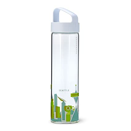 d1a82ee67f Amazon.com : Starbucks You Are Here Collection Water Bottle, Seattle, 18.5  fl oz : Sports & Outdoors