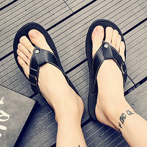 toe Slippers male and sandals shoes men's field beach drop fankou student black Summer 41 male tide drag clip sandals casual men BdHqxxwvA
