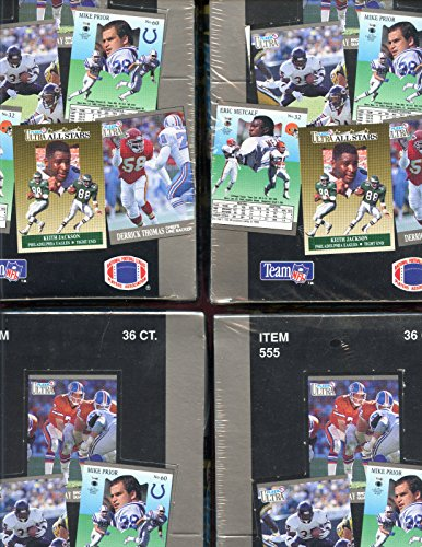 (LOT OF FOUR 4 1991 Fleer Ultra Football Wax Pack Box Brett Favre Rookie Card)