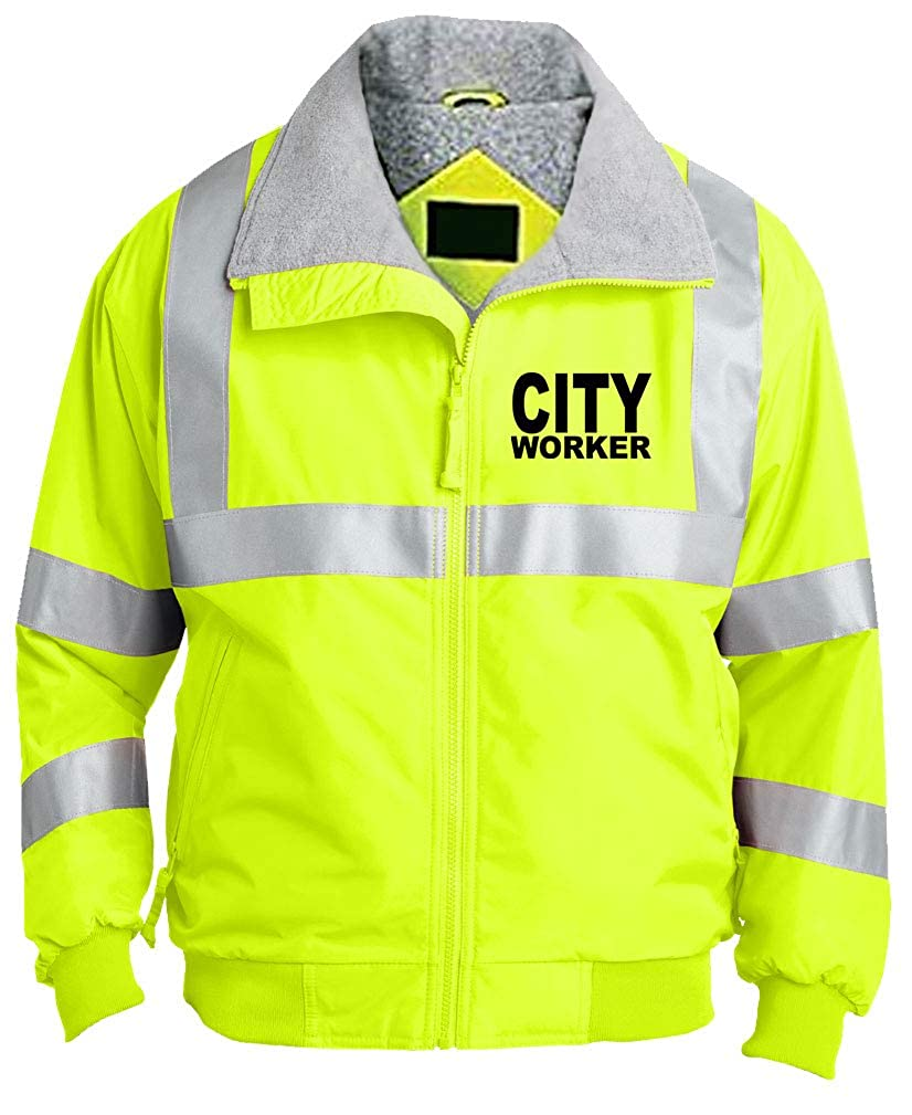 Visibility Unisex Hi-Vis Safety Green Jacket Shadow Company City Worker