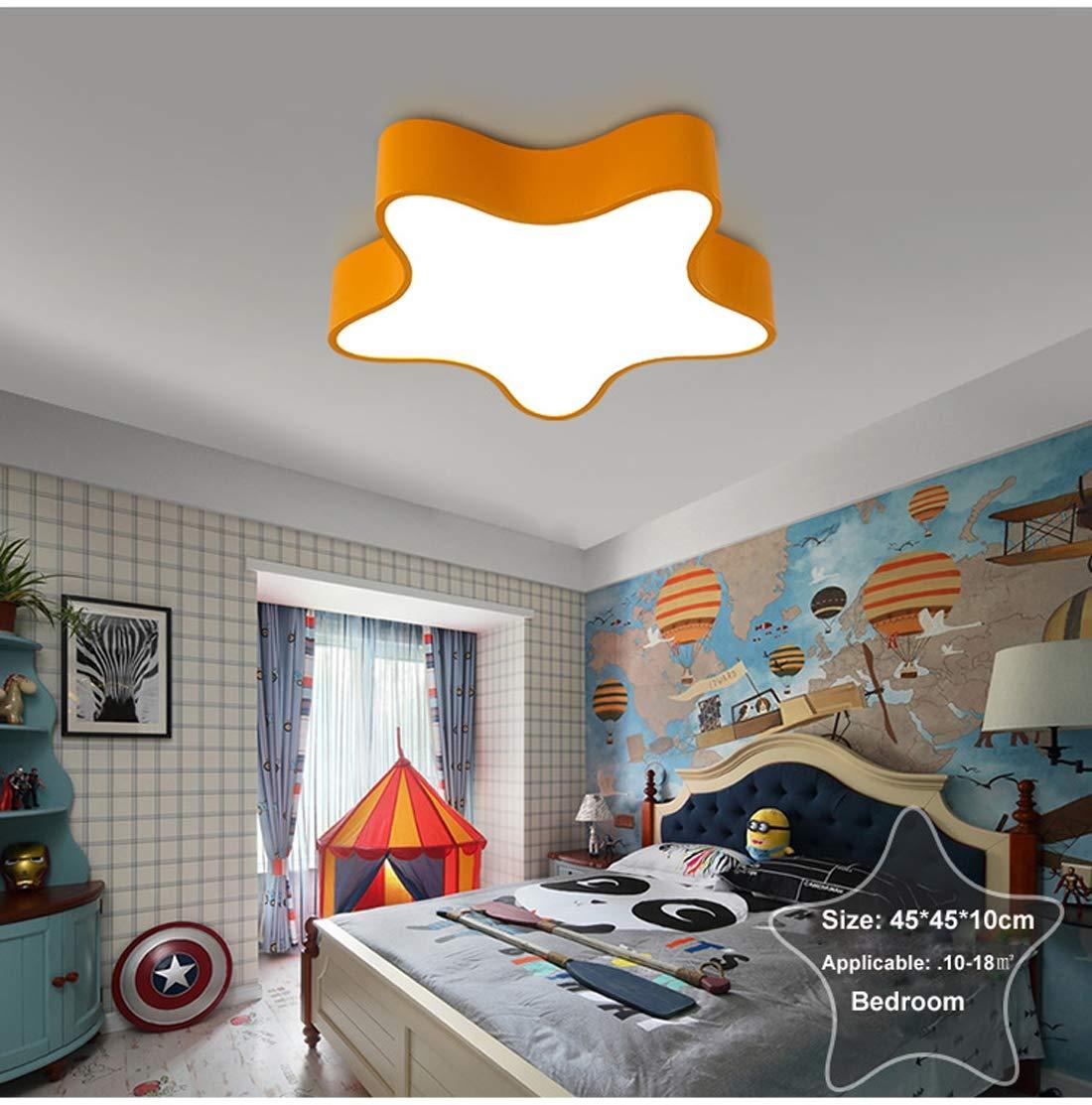Lampes de plafond pour enfant LED Plafonnier Ultra-Mince Creative Star Plafonnier Lampe de Plafond Chambre des Enfants Gar/çons Et Filles Chambre Lampe Simple de Bande Dessin/ée Plafond Lampe,White,45CM