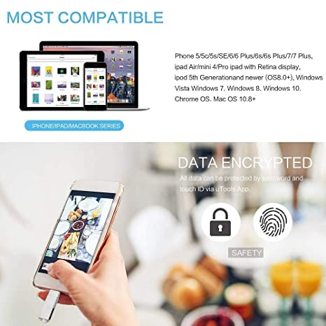 YRESD - Memoria USB para iPhone iOS, 3 en 1 (256.00GB)