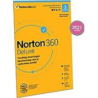 Norton 360 Deluxe 2021, antivirussoftware, internetbeveiliging, 3 Apparaten, 1 Jaar, Secure VPN en Password Manager, PCs…