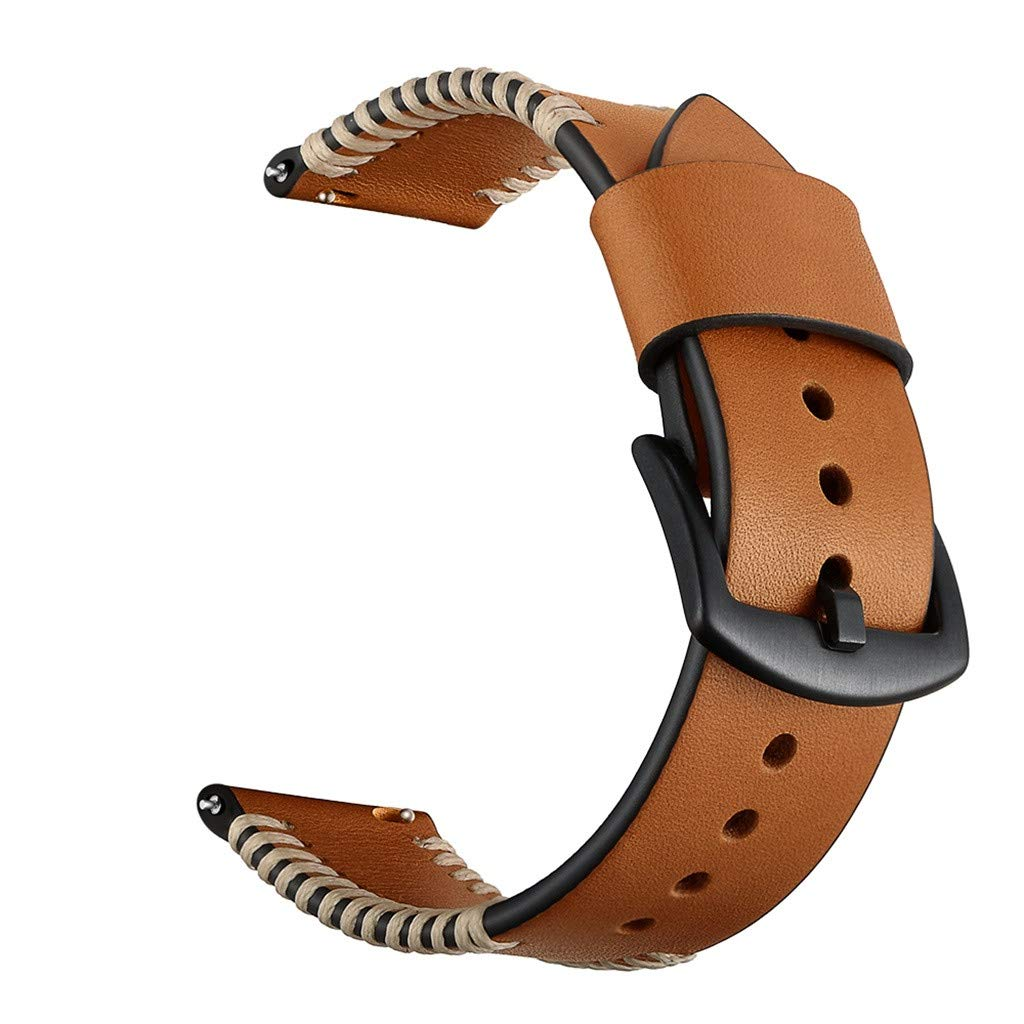 CapsA Leather Replacement Watch Band Woven Wrist Strap Compatible Samsung Galaxy Watch Active 20mm