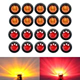-Pack-of-20--TMH-34-Inch-Mount-10-pcs-Amber--10-pcs-Red-LED-Clearance-Bullet-Marker-lights-Side-LED-marker-lig