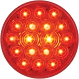 """GG Grand General 76452 Fleet Red 4"""" Round 18-LED Stop/Turn/Tail Sealed Light"""