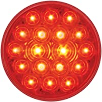 """Grand General 76452 Fleet Red 4"""" Round 18-LED Stop/Turn/Tail Sealed Light"""