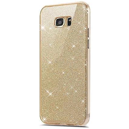 75368f1cb9b Galaxy S7 Edge 360 grados Funda, Galaxy S7 Edge móvil de purpurina, Galaxy  S7 Edge Carcasa ...