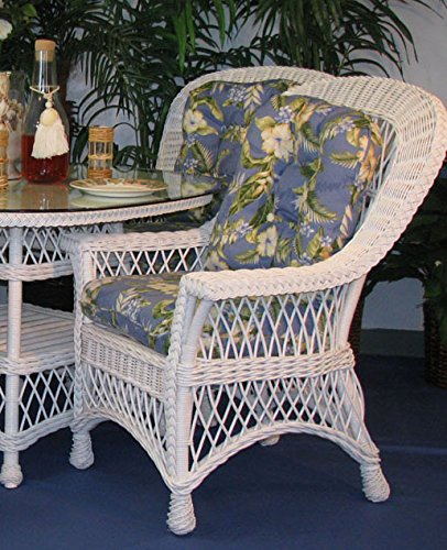 Spice Islands - Dining Chair With Arms In White By Bar Harbor - Bar Harbor Rattan