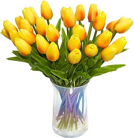 Realistic looking Flowers LED TULIP VASE LAMP