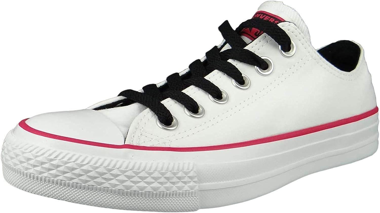 Converse CTAS Ox, Chaussures de Fitness Mixte Enfant Multicolore White Pink Pop White 102