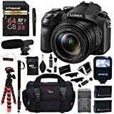 Panasonic LUMIX DMC-FZ2500 Digital Camera 4K Video, Polaroid 64GB Memory Card, Microphone, Monopod , Flash, Ritz Gear Case, 2 Batteries, Charger, Ritz Gear Tripod, Cleaning Kit and Accessory Bundle
