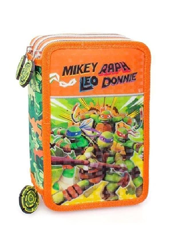 Ninja Turtles - 3 Zip estuche por la escuela: Amazon.es ...