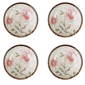 socosy diseño Sakura de cerámica condimento platos, Cherry Blossom Salsa Plato sushi – Cuenco para