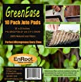 GreenEase Jute Microgreen Hydroponic Grow Pads - 10 Pack- Fits 10x10 standard nursery tray. Grow nutritious Organic Microgreens, Wheat grass, Plant & Seed germination. Certified for Organic Use.