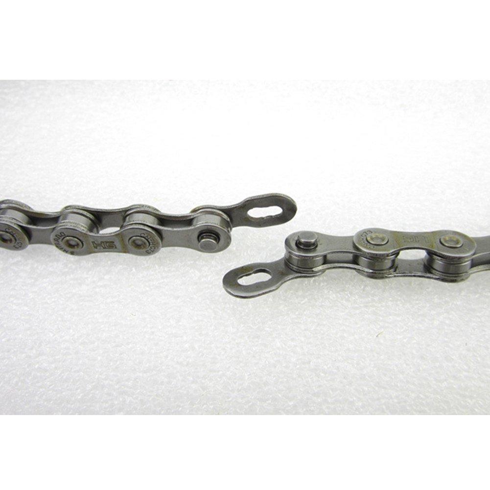 GEZICHTA 9-Fach Fahrrad Korrosionsschutz verzinktem Stahl Kette Wie Abgebildet 116/Quick Release Links mit Magic Schnalle
