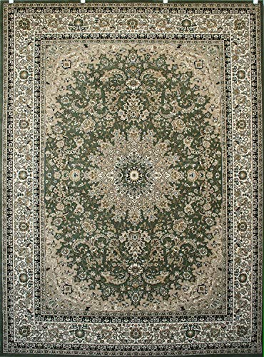 New City Sage Green Traditional Isfahan Wool Persian Area Rugs 5'2 x 7'3