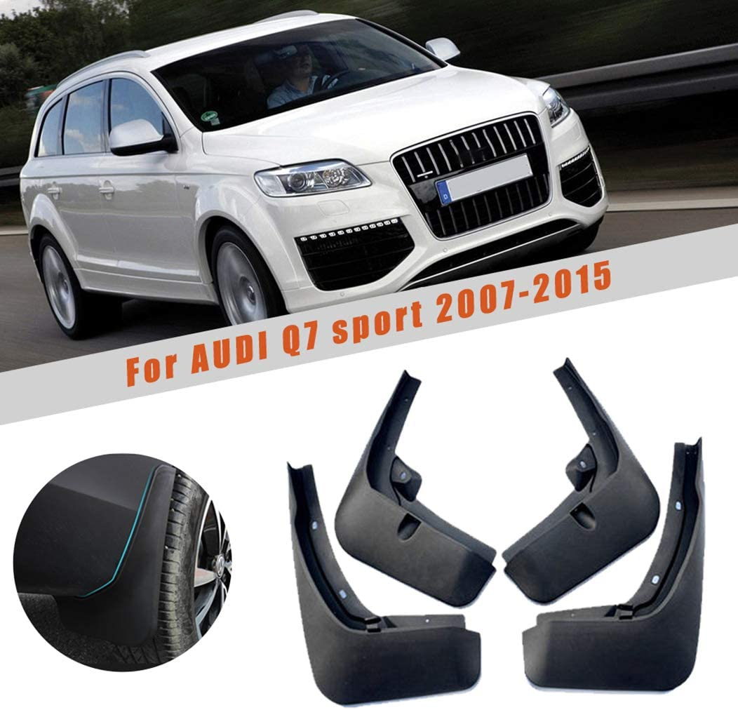 For Audi Q5 2009-2016 Car Mud Flaps Splash Guards Mudguard Front and Rear Fender Accessories 4Pcs Set with Screw