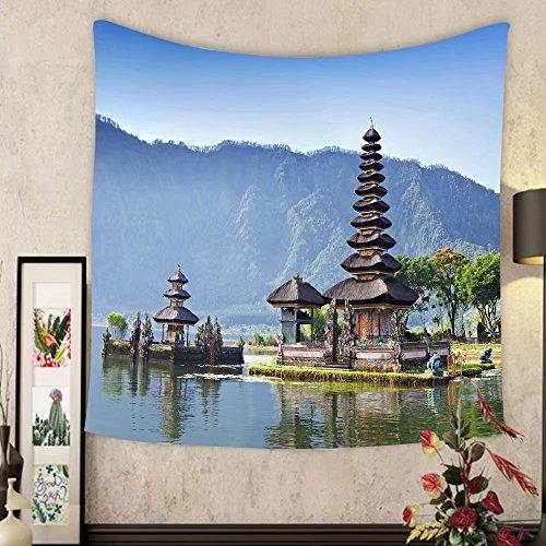 Grace Little Custom tapestry pura ulun danu bratan or pura beratan temple bali island indonesia pura ulun danu bratan is a by Grace Little