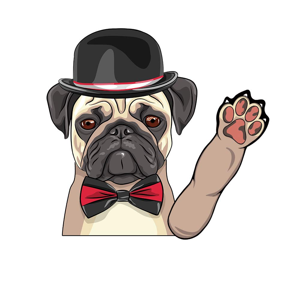Vylymuses rear wiper window decal sticker cartoon rear wiper sticker a dog in a black hat waving windshield wiper decal tags for rear window cute puppy car